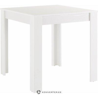 Valkoinen neliö ruokapöytä