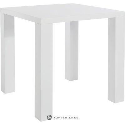 Korkea valkoinen valkoinen ruokapöytä