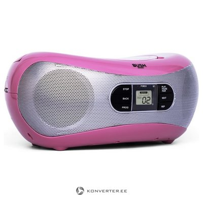 Pink radio and CD player with Bluetooth BUSH CD-78-BTFM (Full)