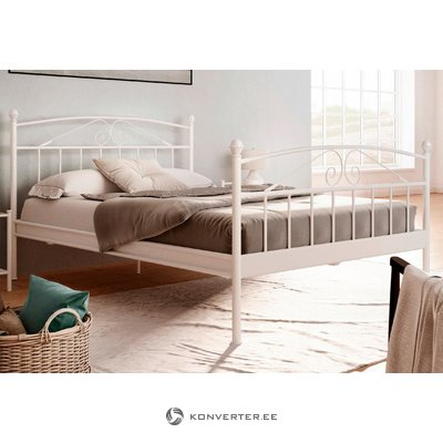 White Bed Metal Bed Frame (140x200 cushion)