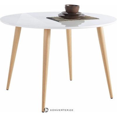 Round White Dining Table (Whole)