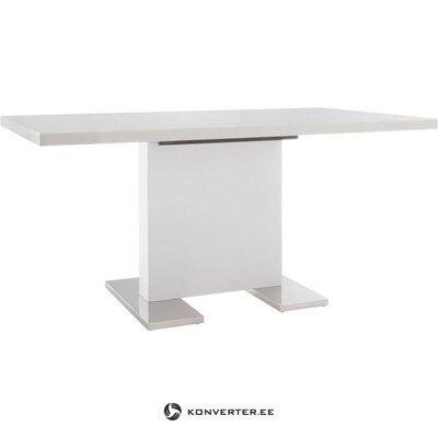Valkoinen ruokapöytä kiiltävä (160x90)
