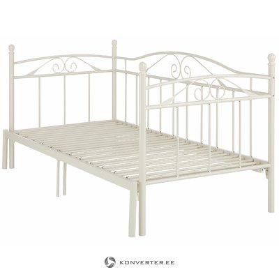 Beige fold-out bed (90-180cm x 206cm)