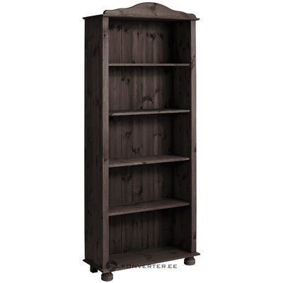 Dark Brown Solid Wood Bookshelf