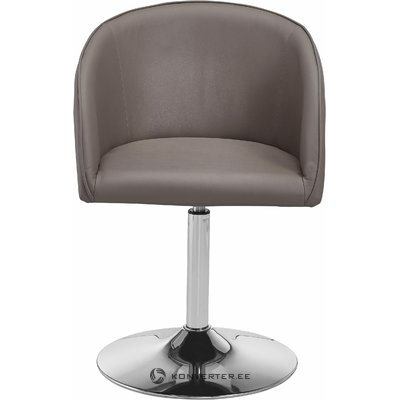Rotating designer gray leather