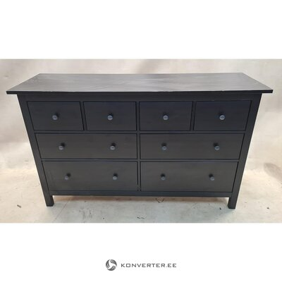 Black solid wood chest of drawers (defective. Hall sample)