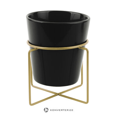 Black-gold flower stand coy (present time) (whole, hall sample)