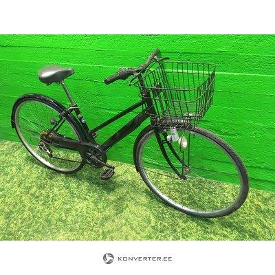 Must jalgratas korvi ja dünamolambiga