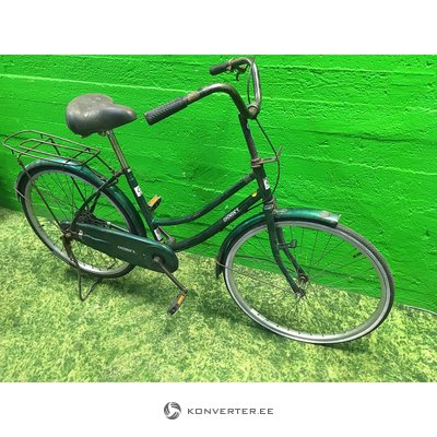 Missing green retro bike
