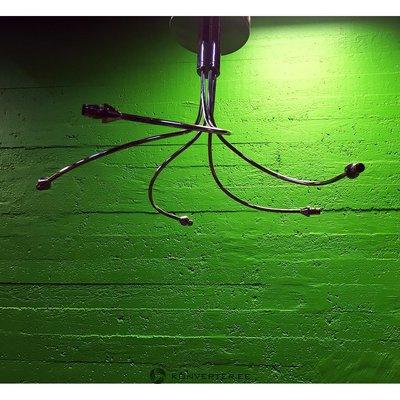 Sudraba griestu lampa ar 5 zeķēm