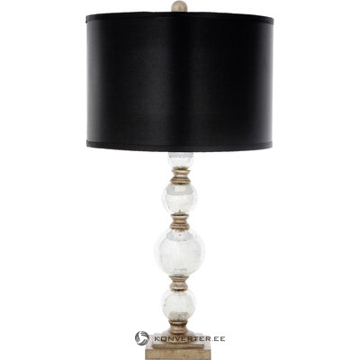 Melnas un sudraba galda lampu komplekts (2gab.) Bumbiņas (safavieh) (kastē, veselas)