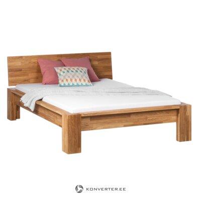 Rudos ąžuolo lovos rėmas (be galvūgalio) (140x200)