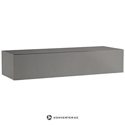 Серый глянцевый навесной шкаф