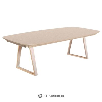 Light brown solid wood dining table (skovby)