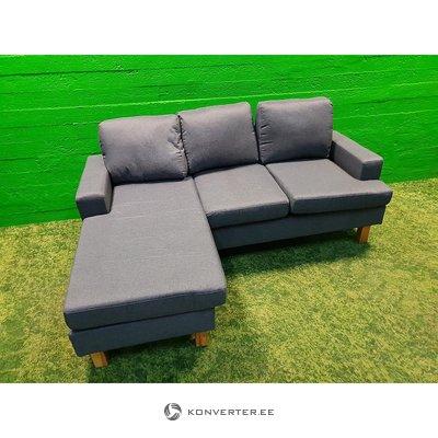 Tamsiai pilka kampo sofa