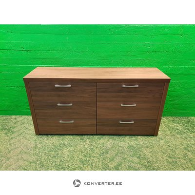 Dark brown chest of drawers with 6 drawers (boconcept)