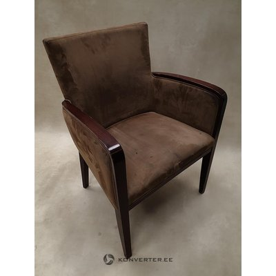 Brown velvety chair