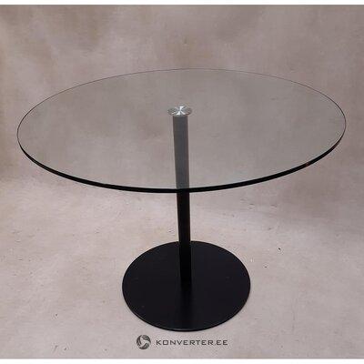 Pyöreä lasi ruokapöytä