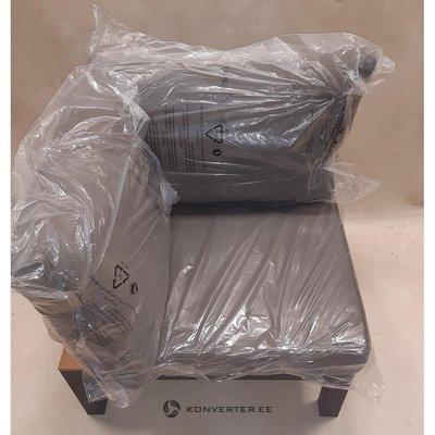 Коричневый металлический садовый стул с подушками (код)