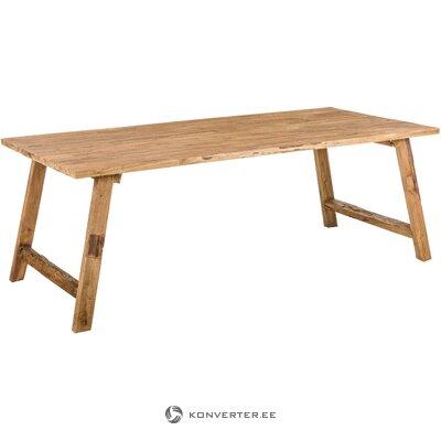 Massiivipuinen ruokapöytä Lawas (Henk Schram) (kokonainen, laatikossa)
