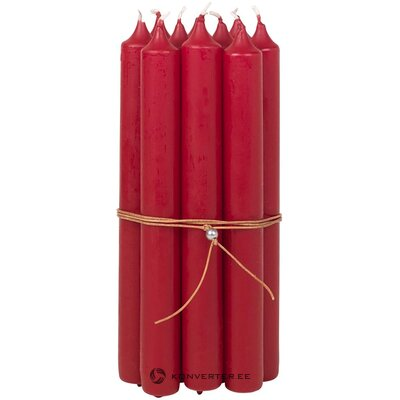 Sarja kynttilöitä (10kpl) (Kööpenhamina) (laatikossa, koko)