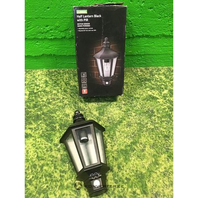 Black Wall Luminator Motion Sensor