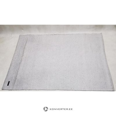 Light gray woolen carpet (160 x 230)