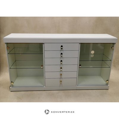 White large display cabinet
