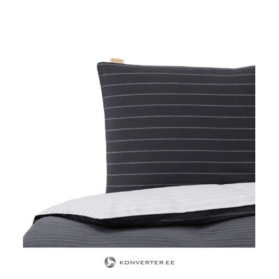 Striped bed linen set refined (walra)
