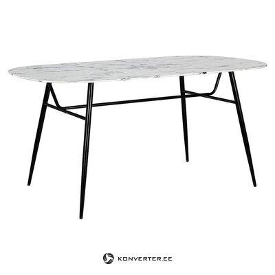 Mustavalkoinen ruokapöytä (bizzotto)