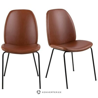 Brown-black chair (jill & jim) (with beauty defects., Hall sample)