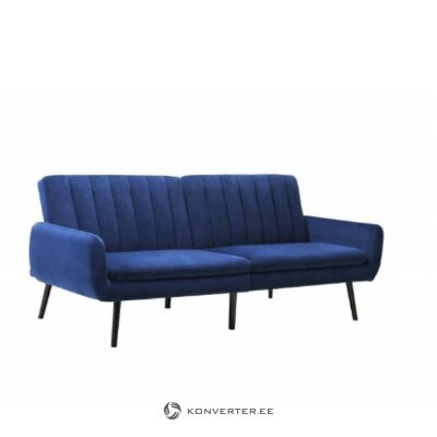 Blue sofa bed (harndrup) (with beauty defects., Hall sample)