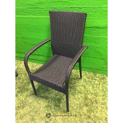 Черный стул с креслами