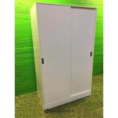 Белый белый шкаф с 2 слайдами
