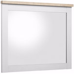 Hector mirror - white / s.oak