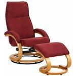 Paprika dīvāns / otomanu sarkanā mikrošķiedra / dižskābarža finieris