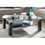 Black glass coffee table (sample hall, whole)