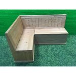 Light solid wood corner tray with storage rooms