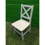 Täispuit tool valge peitsiga
