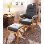 Gray leather armchair (whole, in box)