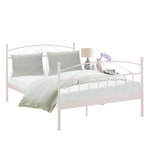 Bibi Bed 140 x 200 cm / white metal
