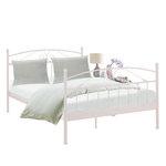 Кровать Биби 140 х 200 см / белый металл
