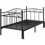 Bibi Daybed 90 with pull-out function (+90) x 200 cm / black metal