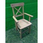 Täispuit tool käetugedega