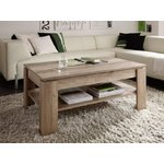 Dark brown coffee table with shelf (beauty defects, in box)