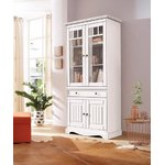 White solid wood display cabinet (melissa) (whole, box)