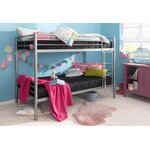 Silver metal bunk bed (atlantic) (in box, with beauty defects)