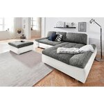 White-gray corner sofa (fabona) (beauty flaws, hall sample)