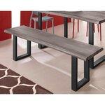 Gray-black bench (selina)