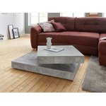 Couch table (inosign) on wheels (beauty defects, gray, in box)